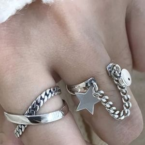 Star Chain Rope Ring Set